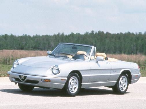 Most Fuel Efficient Convertibles of 1992 - 1992 Alfa Romeo Spider