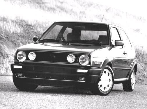 Top Consumer Rated Hatchbacks of 1992 - 1992 Volkswagen GTI