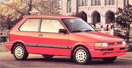 Most Fuel Efficient Coupes of 1993 - 1993 Subaru Justy