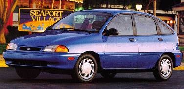 Most Fuel Efficient Hatchbacks of 1994 - 1994 Ford Aspire