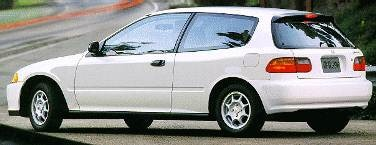 Most Fuel Efficient Hatchbacks of 1994 - 1994 Honda Civic