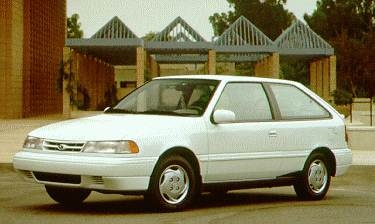 Most Fuel Efficient Hatchbacks of 1994 - 1994 Hyundai Excel