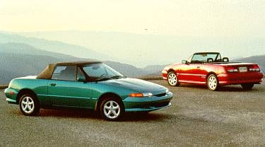 Most Fuel Efficient Convertibles of 1994 - 1994 Mercury Capri