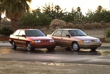Most Fuel Efficient Hatchbacks of 1996 - 1996 Ford Escort