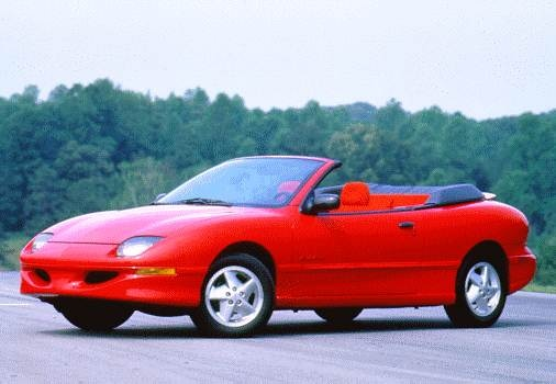 Most Fuel Efficient Convertibles of 1996 - 1996 Pontiac Sunfire