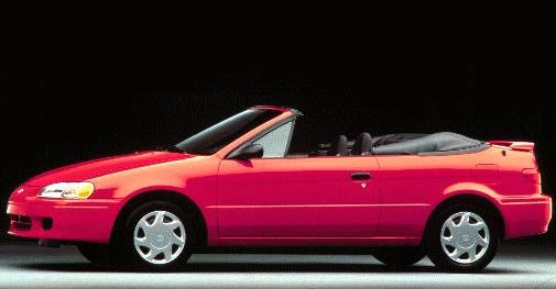 Most Fuel Efficient Convertibles of 1997 - 1997 Toyota Paseo