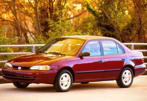Most Fuel Efficient Sedans of 1998 - 1998 Chevrolet Prizm