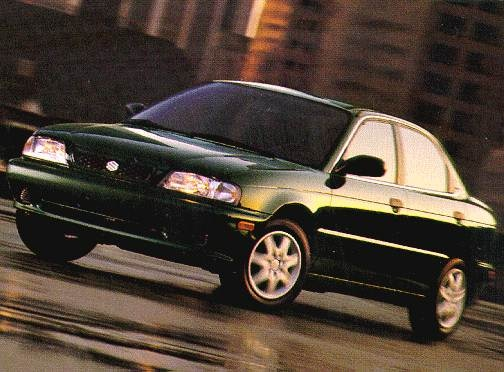 Most Fuel Efficient Sedans of 1998 - 1998 Suzuki Esteem