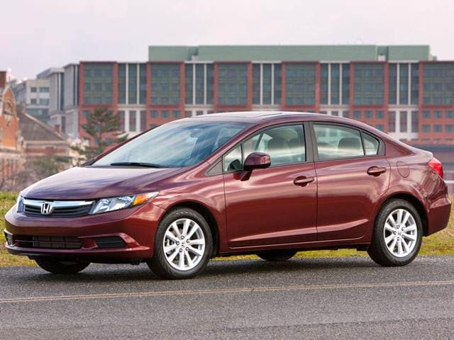 Best Safety Rated Sedans of 2012 - 2012 Honda Civic