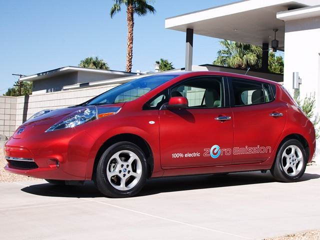 Most Fuel Efficient Electric Cars of 2012 - 2012 Nissan LEAF