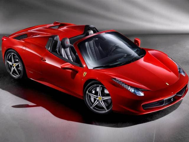 Highest Horsepower Convertibles of 2013 - 2013 Ferrari 458 Spider
