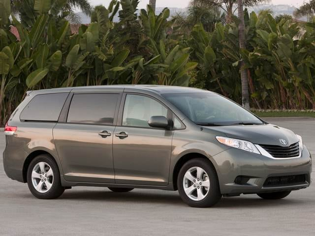Most Fuel Efficient Van/Minivans of 2013 - 2013 Toyota Sienna