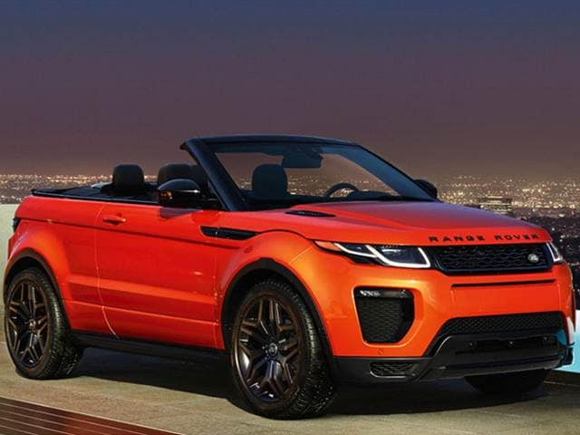 Most Popular Convertibles of 2018 - 2018 Land Rover Range Rover Evoque