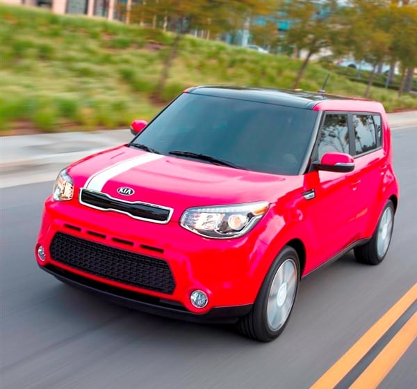 new kia soul ev coming to america in 2014 kelley blue book. Black Bedroom Furniture Sets. Home Design Ideas