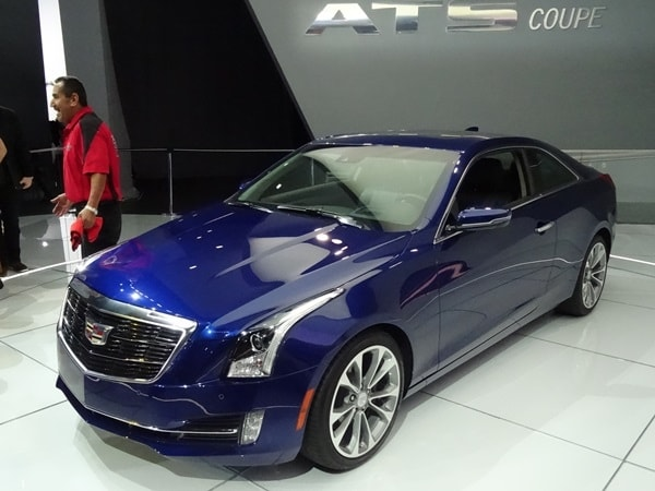 2015 Cadillac Ats Coupe Makes Detroit Debut Kelley Blue Book