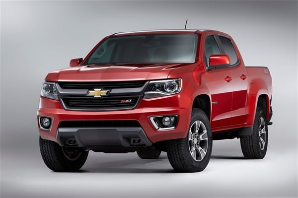 Chevrolet reinvents Colorado midsize pickup truck for 2015 ...