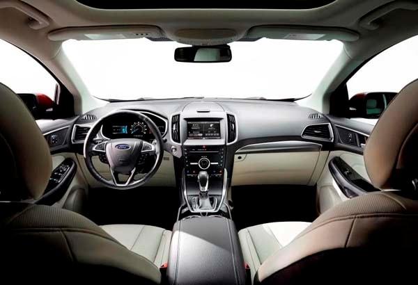 2016 Hyundai Santa Fe Se >> 2015 Ford Edge unveiled -- upping its game on every level ...
