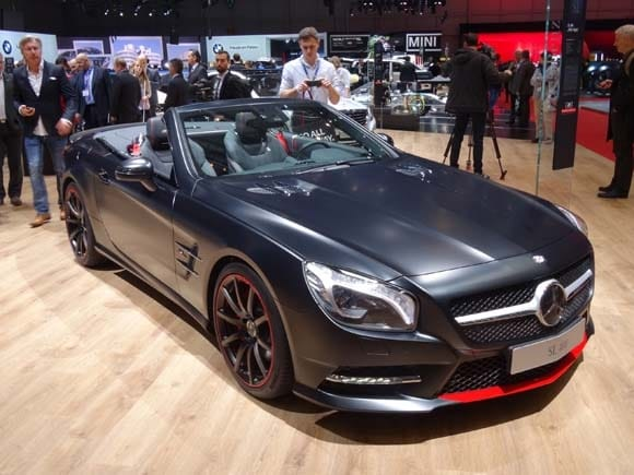 Mercedes sl550 matte black