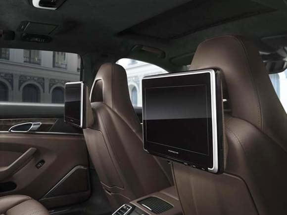 porsche 4 door models offer rear seat entertainment. Black Bedroom Furniture Sets. Home Design Ideas