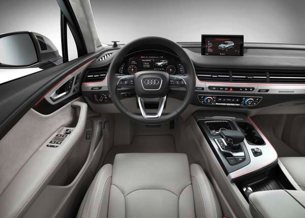 first pics totally redesigned 2016 audi q7   kelley blue book