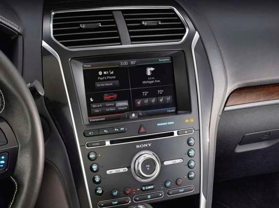 2016 Ford Explorer Platinum Boasts Sony Home Audio Sound
