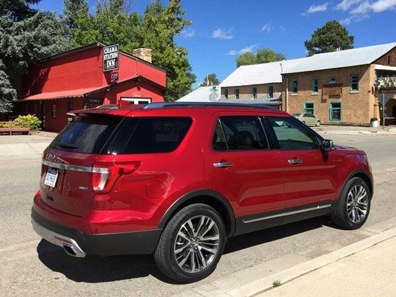 1 12 - Red Ford Explorer Black Rims