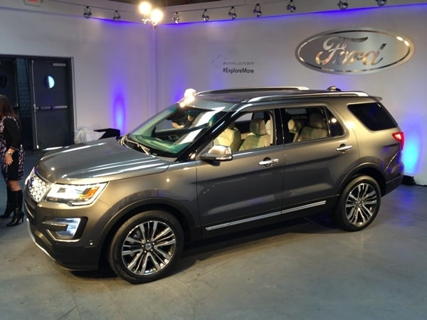 2016 Ford Explorer Unveiled With Revised Look New Tech