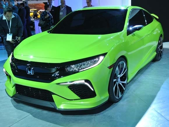 Used Honda Civic Si >> 2016 Honda Civic Concept previews dramatic new lineup ...