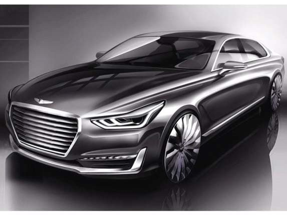 Genesis Flagship Sedan Previewed Kelley Blue Book