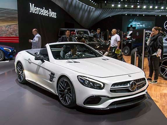 2017 mercedes benz sl roadster reimagined kelley blue book for How much is a mercedes benz 2017