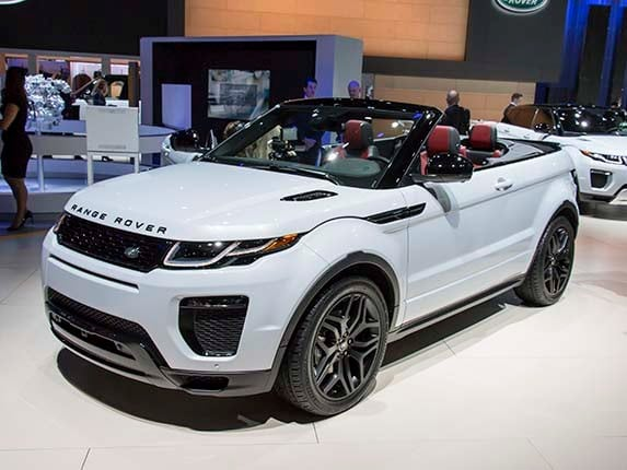 After Months Of Tease Images Showing It In Various Terrains And States Camouflage The 2017 Range Rover Evoque Convertible Was Revealed At Los