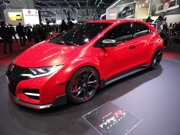 Previewing What Will Be The Hottest Member Of Its Global Civic Lineup, The Honda  Civic Type R Concept Took Center Stage On The Automakeru0027s Stand In Geneva.