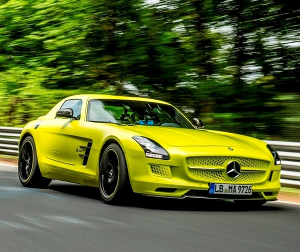 all electric mercedes benz sls breaks nurburgring ev