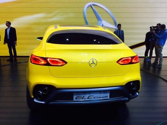 Mercedes-Benz Concept GLC Coupe rolls into Shanghai ...