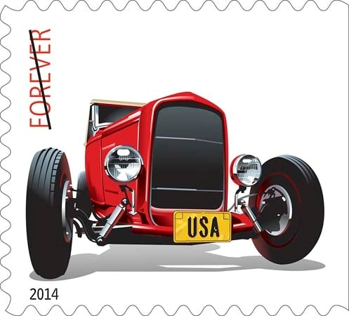Postal Service Rolls Out Hot Rods Forever Stamps Latest