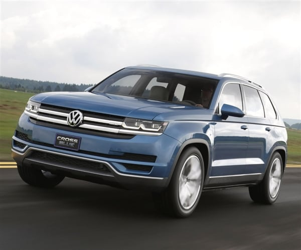 volkswagen confirms new mid size suv will come to u s kelley blue book. Black Bedroom Furniture Sets. Home Design Ideas
