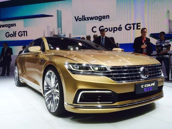 Volkswagen C Coupe Gte Concept Foreshadows Future Big Sedans