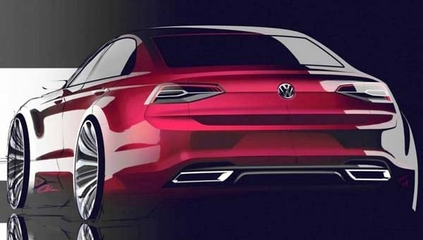 VW teases Golf R400 and New Midsize Coupe Concepts for ...