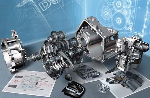 Volkswagen Speed Dsg Automatic Transmission Exploded View on 4 Cylinder Engine Exploded View