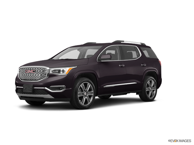 2018 gmc acadia denali new car prices kelley blue book. Black Bedroom Furniture Sets. Home Design Ideas