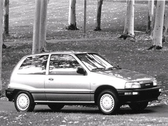Most Fuel Efficient Hatchbacks of 1992 - 1992 Daihatsu Charade
