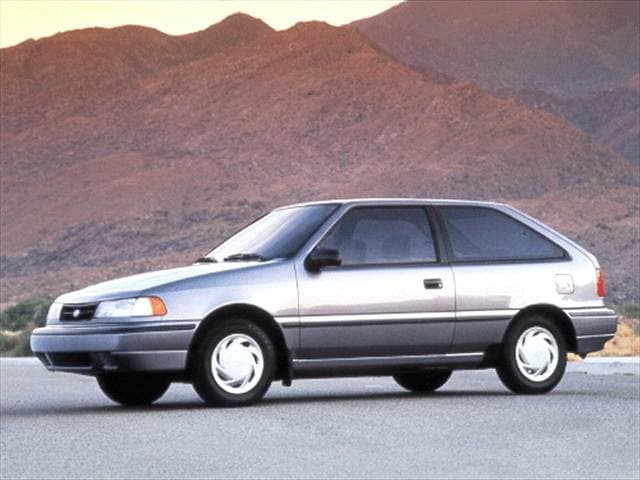 Most Fuel Efficient Hatchbacks of 1992 - 1992 Hyundai Excel