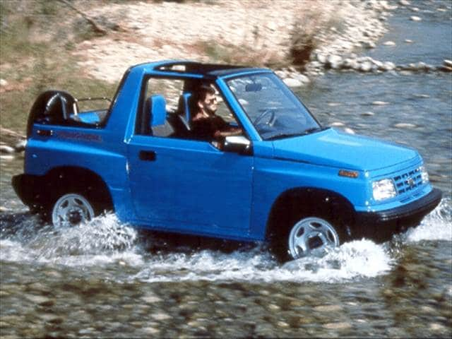 Most Fuel Efficient SUVs of 1993 - 1993 Geo Tracker