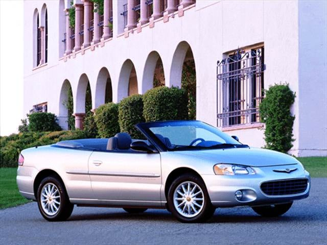 Most Fuel Efficient Convertibles of 2001 - 2001 Chrysler Sebring
