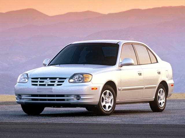 Most Fuel Efficient Sedans of 2003 - 2003 Hyundai Accent