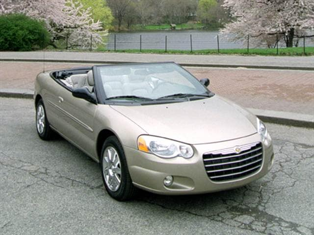Most Fuel Efficient Convertibles of 2004 - 2004 Chrysler Sebring