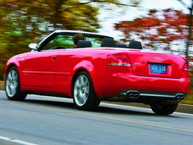 Top Consumer Rated Convertibles of 2008 - 2008 Audi S4
