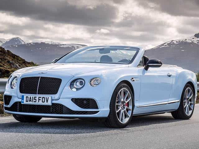Top Consumer Rated Convertibles of 2016 - 2016 Bentley Continental